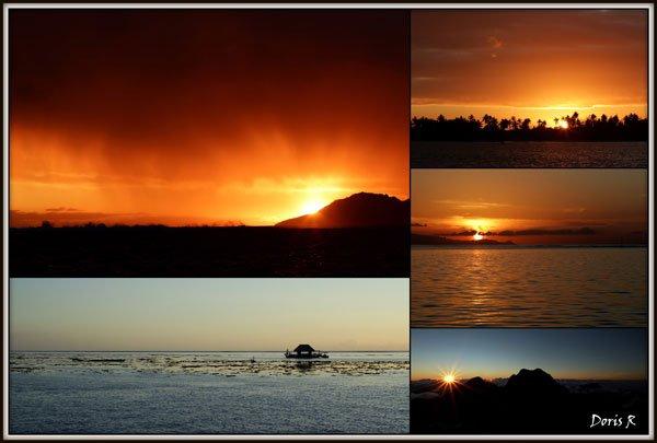 Tahiti couchers de soleil